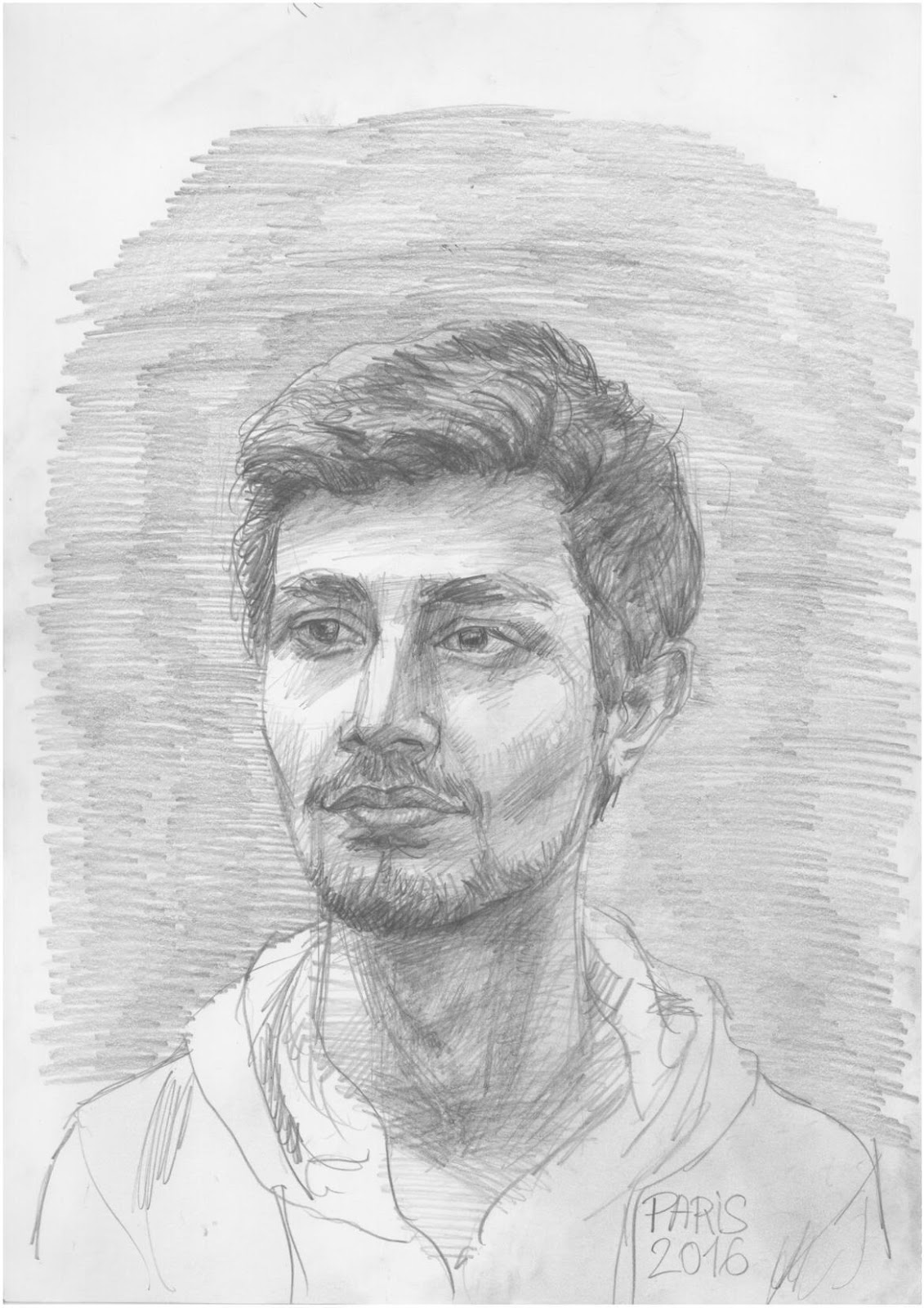 Shashank Anand pencil sketch